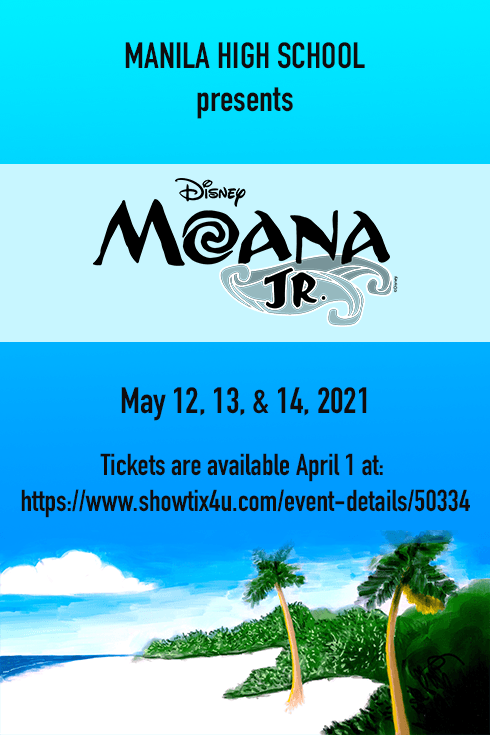 MHS Moana Jr Tickets available