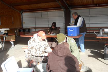 Photo of Burbot check-in prior to the closing ceremonies of the 2012 Burbot Bash