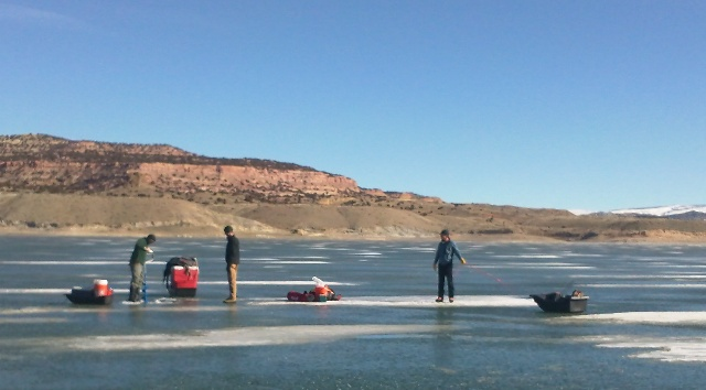 Preparing to fish the Gorge during the 2013 Burbot Bash