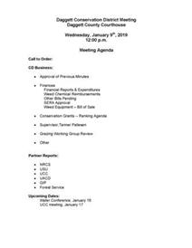 JPEG version of the January 9 Daggett Conservation District Agenda