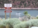 Boating near the Flaming Gorge Dam
