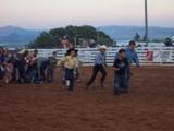 Kids activities during the Cow country Rodeo in Manila, Utah near Flaming Gorge