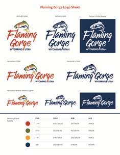 Sheet of possible new Flaming Gorge Chamber Logos