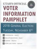 JPEG version of the cover of the 2018 Utah Voter Information Pamphlet