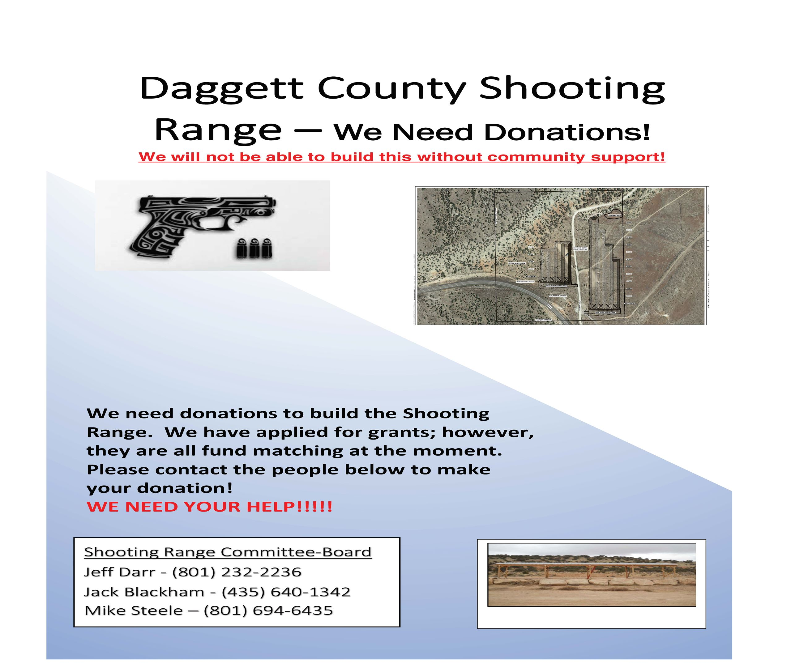 Daggett County Shooting Range Flyer