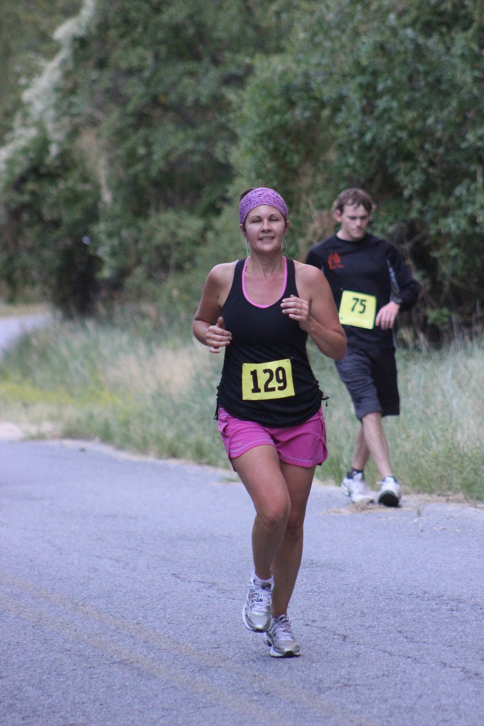 Photo of 10K Runners on the Course for the 2013 Tower Rock Run
