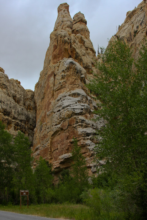 Photo of Tower Rock on the Sheep Creek Geological Loop